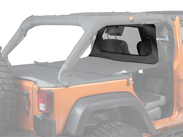 Bestop Windjammer; Black (07-18 Jeep Wrangler JK 4 Door)