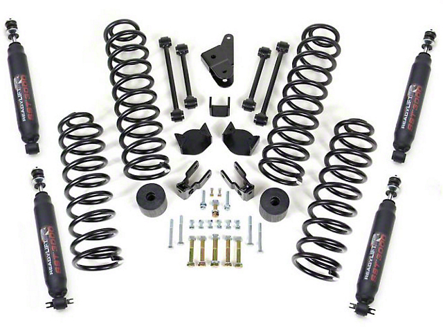ReadyLIFT 4-Inch Coil Spring Suspension Lift Kit with SST3000 Shocks (07-18 Jeep Wrangler JK)
