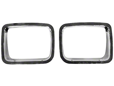 Rugged Ridge Bezel Headlights - Chrome (87-95 Jeep Wrangler YJ)