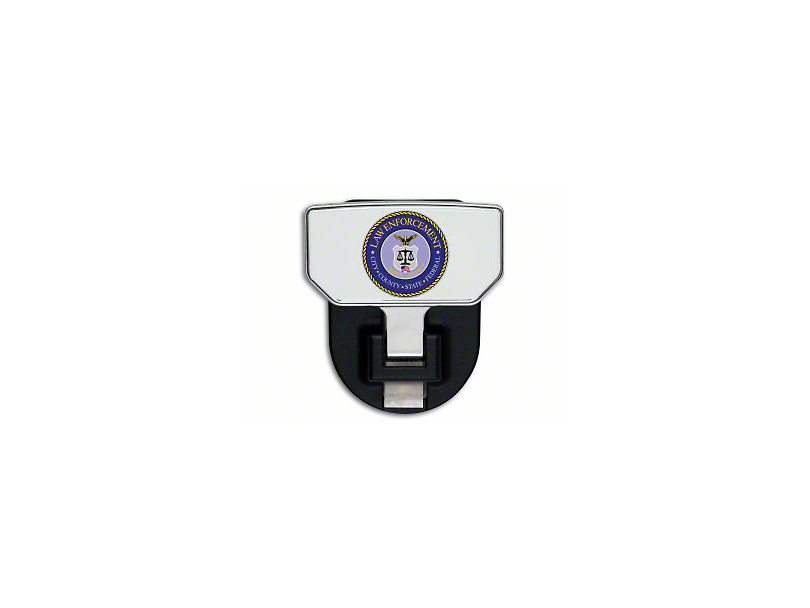 Carr HD Hitch Step w/ Law Enforcement Logo (Universal Fitment)