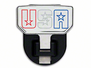 Carr HD Hitch Step w/ American Flag Logo (87-18 Jeep Wrangler YJ, TJ, JK & JL)