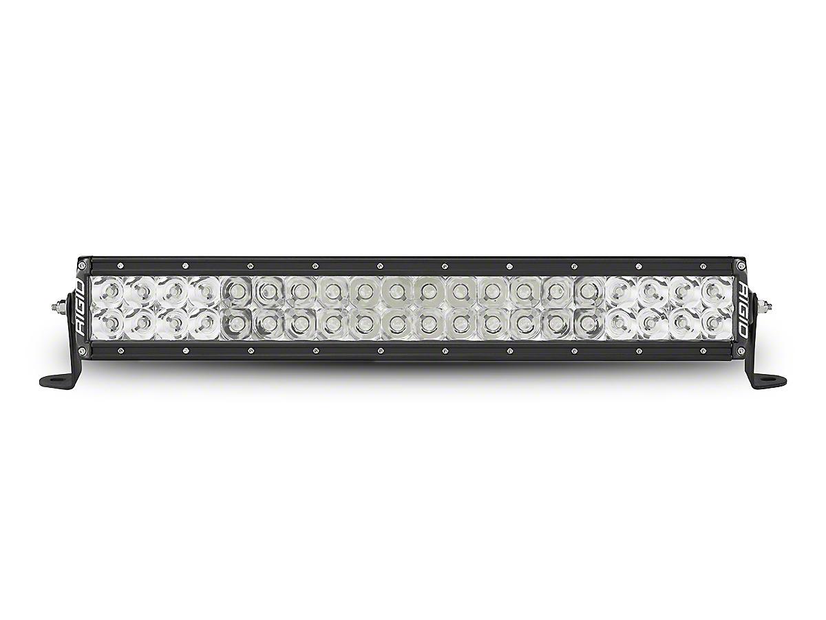 Rigid Industries 20 in. E-Series Amber LED Light Bar - Flood/Spot Combo (87-18 Wrangler YJ, TJ & JK)