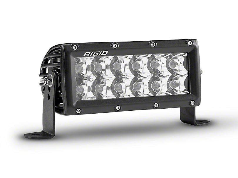 Rigid Industries 6 in. E-Series Amber LED Light Bar - Spot Beam
