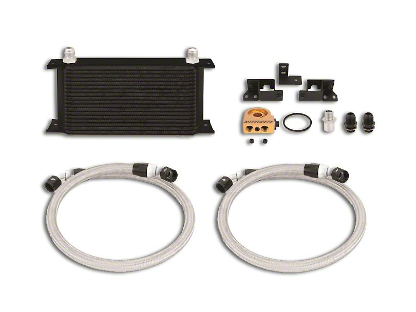 Mishimoto Oil Cooler Kit - Black (07-11 3.8L Jeep Wrangler JK)