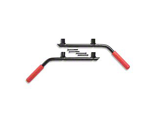 GraBars Rear Grab Handles w/ Red Grips (07-18 Wrangler JK 2 Door)