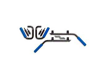 GraBars Front & Rear Grab Handles w/ Blue Grips (07-18 Jeep Wrangler JK 2 Door)