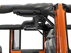 Rear Grab Handles w/ Black Grips (07-18 Jeep Wrangler JK 4 Door)