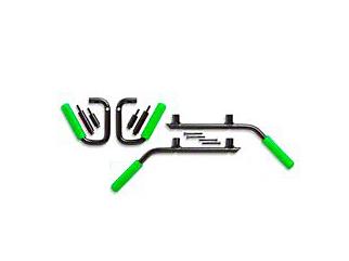GraBars Front & Rear Grab Handles w/ Green Grips (07-18 Jeep Wrangler JK 4 Door)