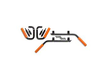 GraBars Front & Rear Grab Handles w/ Orange Grips (07-18 Jeep Wrangler JK 4 Door)
