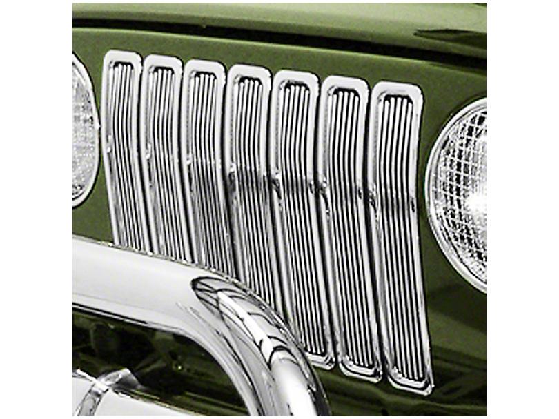 Rugged Ridge Billet Grille Inserts - Chrome (97-06 Jeep Wrangler TJ)