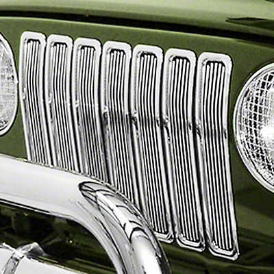 Rugged Ridge Billet Grille Inserts - Chrome (97-06 Wrangler TJ)