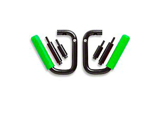 GraBars Front Grab Handles w/ Green Grips (87-95 Jeep Wrangler YJ)
