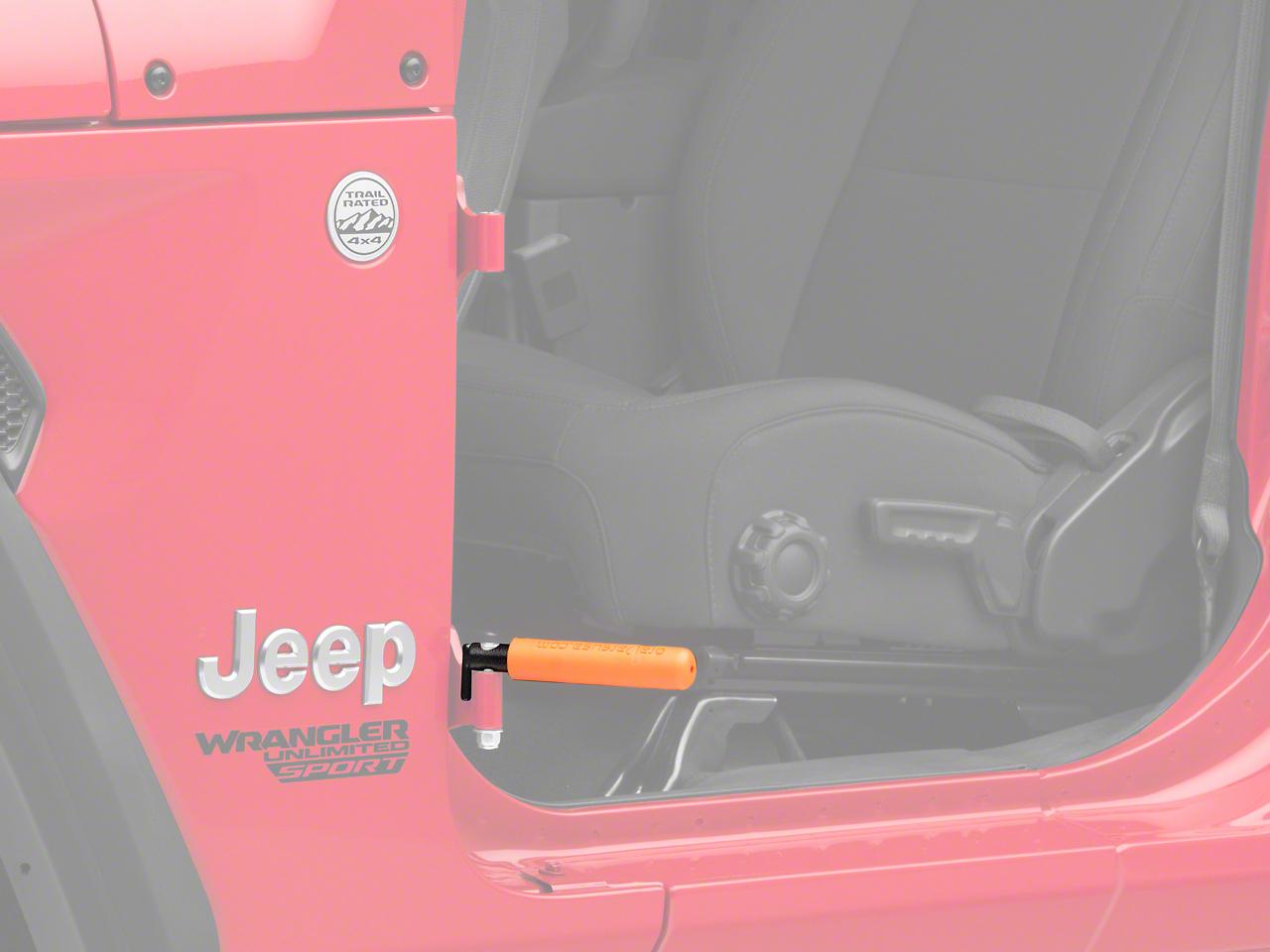 GraBars BootBars Foot Pegs w/ Orange Grips (07-18 Jeep Wrangler JK; 2018 Jeep Wrangler JL)