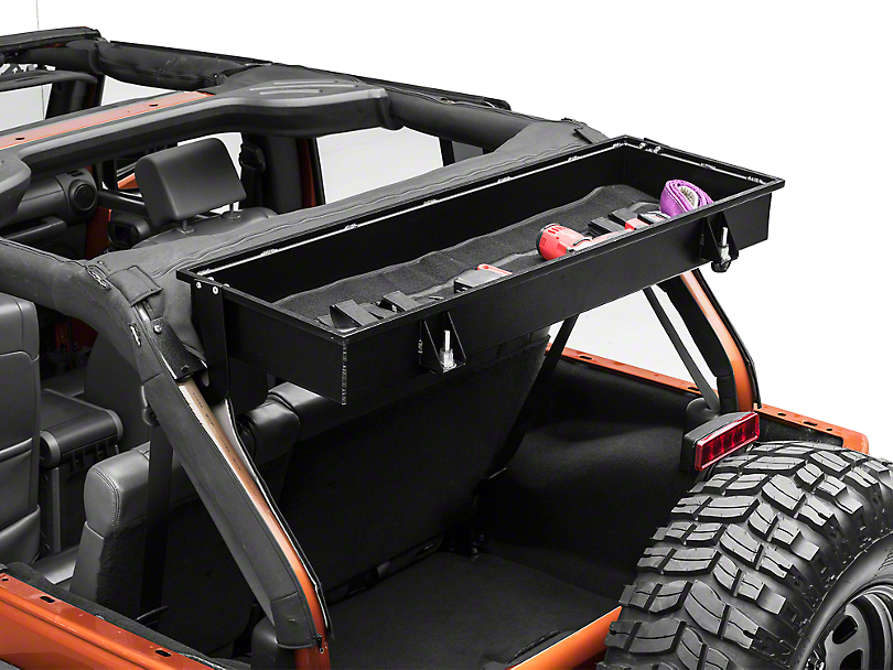 grabars jeep wrangler rear overhead locking storage box jkv 4 07 18 jeep wrangler jk 4 door. Black Bedroom Furniture Sets. Home Design Ideas