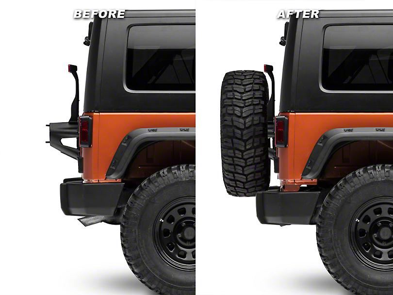 Zone Offroad 2 in. Rear Bumper Relocation Kit (07-18 Jeep Wrangler JK)