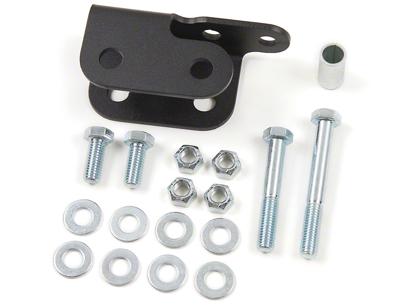Zone Offroad Rear Track Bar Relocation Bracket for 2 to 3-Inch Lift (07-18 Jeep Wrangler JK)