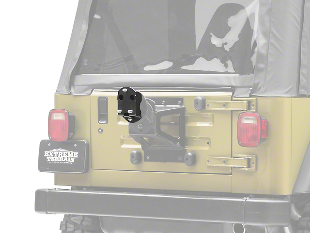 Zone Offroad Spare Tire Relocation Bracket (87-06 Jeep Wrangler YJ & TJ)