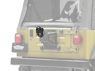 Zone Offroad Spare Tire Relocation Bracket (87-06 Jeep Wrangler YJ & TJ)