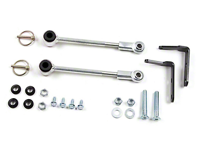 Zone Offroad Sway Bar Disconnect for 3-4.5 in. Lift (87-95 Jeep Wrangler YJ)