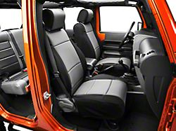 Rugged Ridge Neoprene Front Seat Covers - Black/Gray (07-10 Jeep Wrangler JK w/ Factory Seat Air Bags)