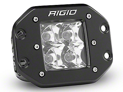 Rigid Industries D-Series Flush Mount Amber LED Cube Light - Spot Beam (87-18 Wrangler YJ, TJ, JK & JL)