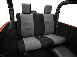 Rugged Ridge Neoprene Rear Seat Cover - Black/Gray (07-18 Jeep Wrangler JK 2 Door)