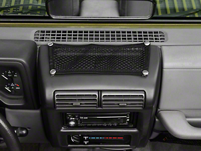 Rugged Ridge Black 5 Piece Interior Mesh Storage Net Kit (97-06 Wrangler TJ)