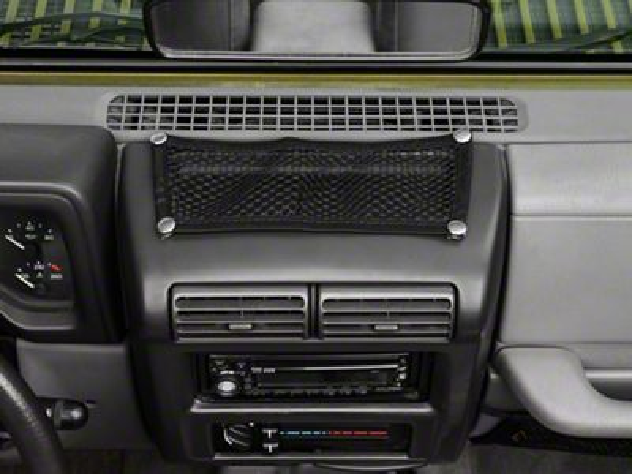 Rugged Ridge Jeep Wrangler Black 5 Piece Interior Mesh Storage Net Kit 12495 11 97 06 Jeep Wrangler Tj