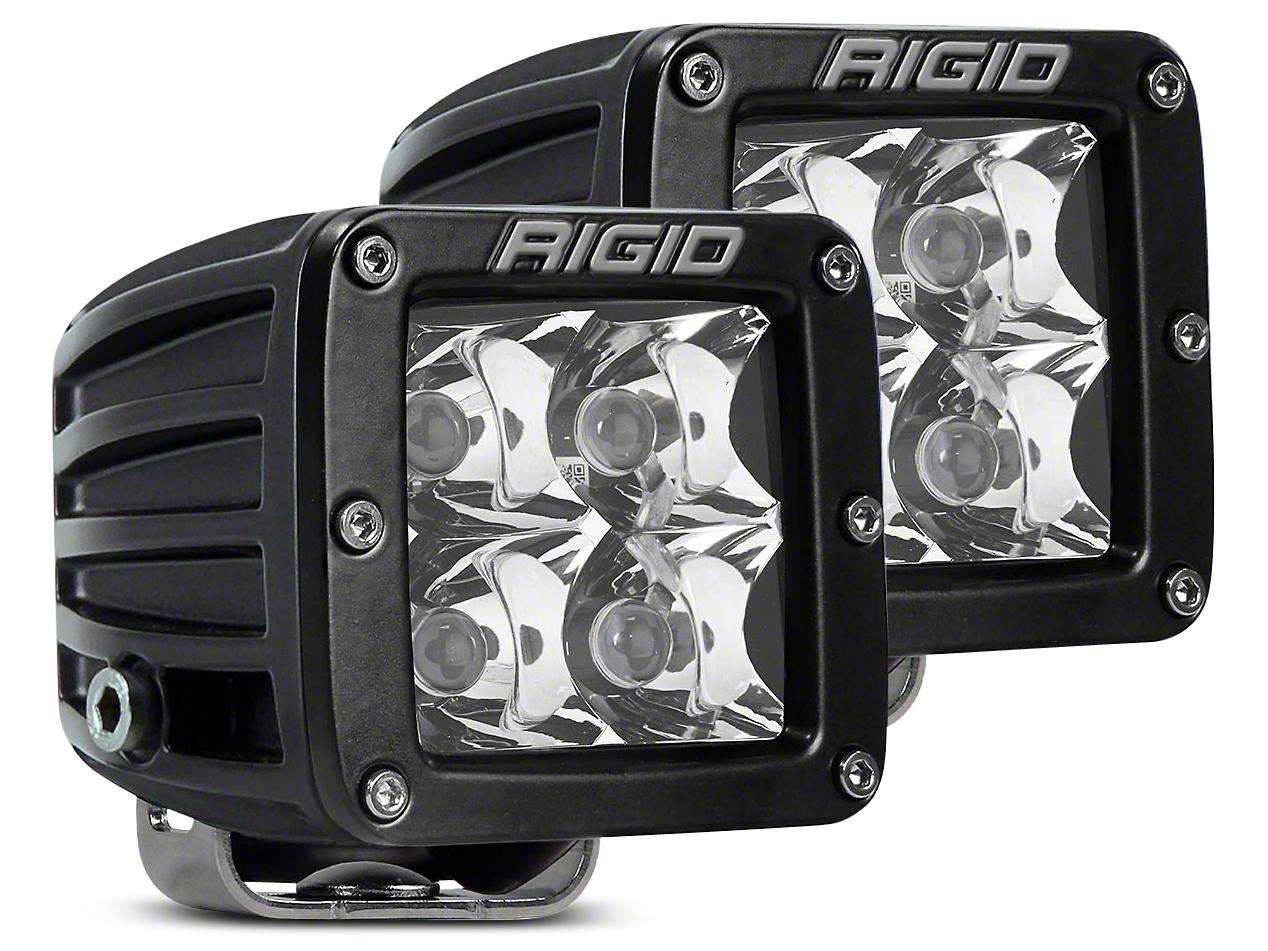 Rigid Industries D-Series LED Cube Lights - Spot Beam - Pair