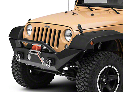 Rugged Ridge Spartan Front Bumper w/ Over Rider & High Clearance Ends (07-18 Wrangler JK; 2018 Wrangler JL)