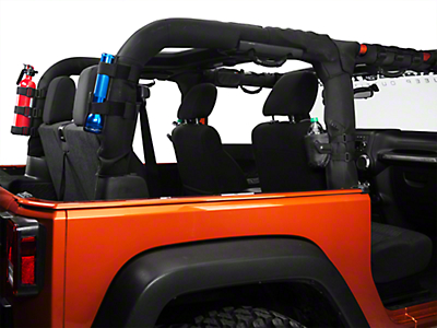 Rugged Ridge Black 9 Piece Interior Roll Bar Trim Kit (07-18 Jeep Wrangler JK)