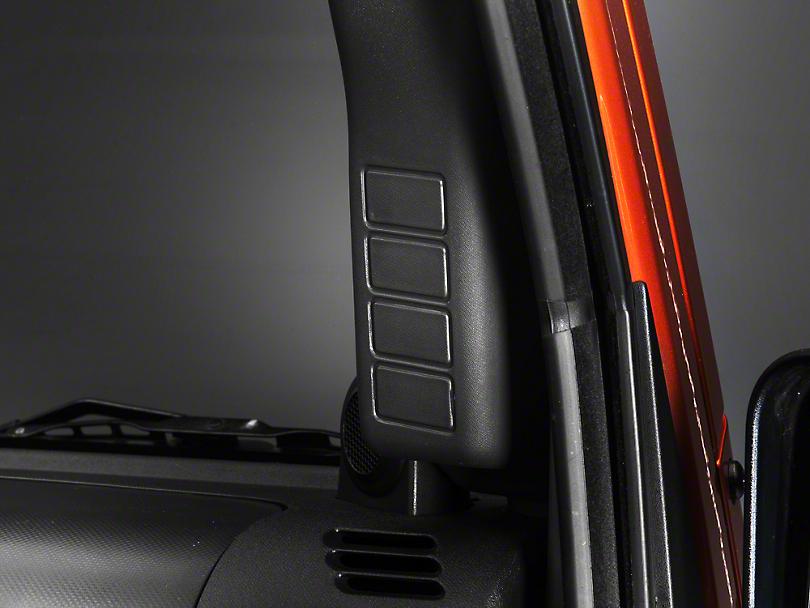 Rugged Ridge Black A-Pillar Switch Pod - Right Hand Drive (07-10 Jeep Wrangler JK)