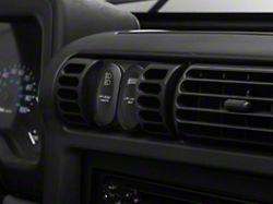 Rugged Ridge Black AC Vent Switch Pod (97-06 Jeep Wrangler TJ)