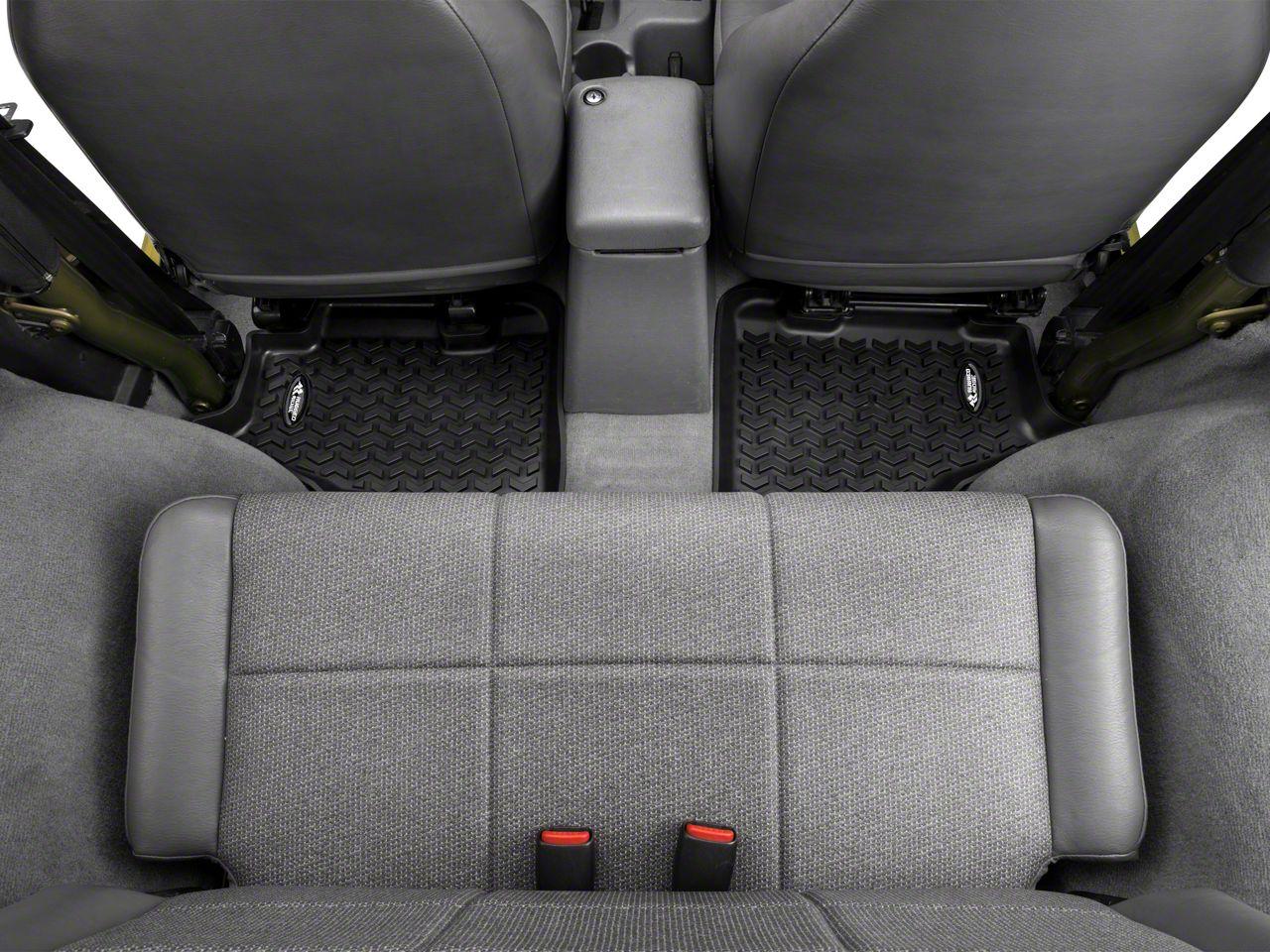 Add Rugged Ridge Rear Floor Liner - Rear Pair, Black (97-06 Wrangler TJ)