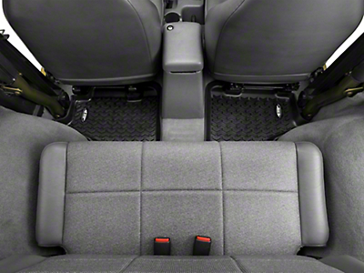 Rugged Ridge All Terrain Rear Floor Liners - Black (97-06 Jeep Wrangler TJ)