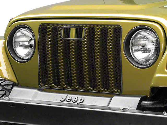 Rugged Ridge Bug Grille Screen - Black (97-06 Jeep Wrangler TJ)