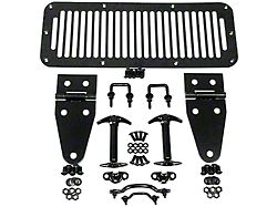 Rugged Ridge Hood Dressup Kit; Black (87-95 Jeep Wrangler YJ)