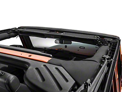 Rugged Ridge Composite Overhead Storage Console - Black (87-18 Jeep Wrangler YJ, TJ & JK)