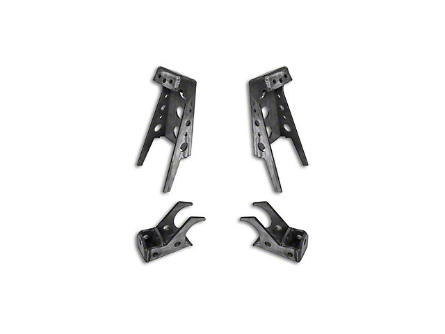 rock krawler jeep wrangler front coilover brackets rk04903  07