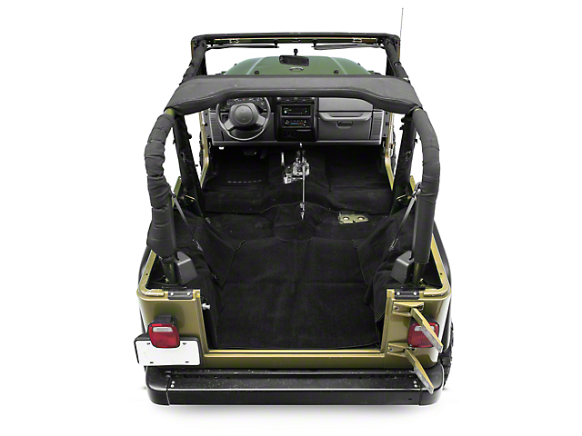 Rugged Ridge Deluxe Complete Carpet Kit - Black (97-06 Jeep Wrangler TJ, Excluding Unlimited)