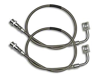 Rock Krawler Rear Long Travel Stainless Steel Brake Lines (07-18 Wrangler JK)