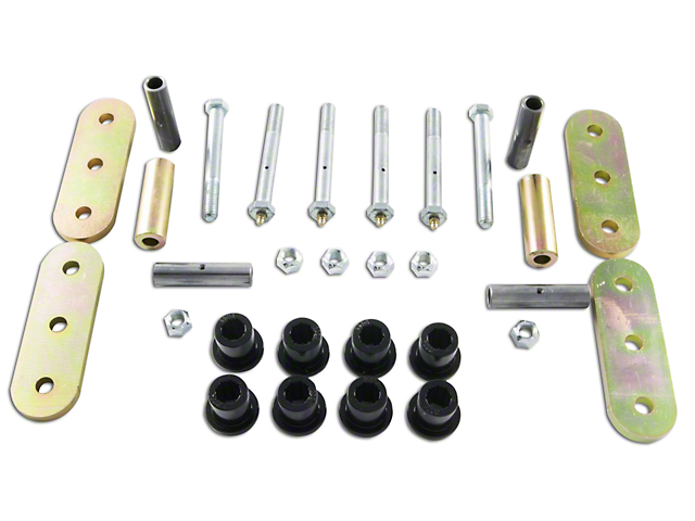 M.O.R.E. Front Lubeable Shackles (87-95 Jeep Wrangler YJ)