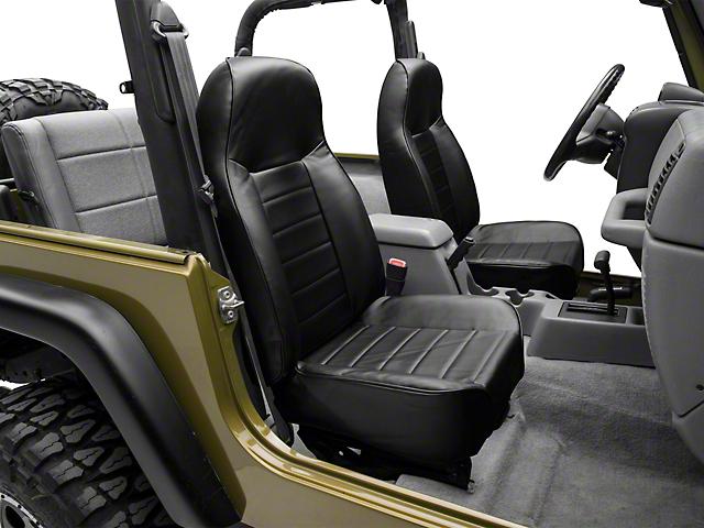 Smittybilt Standard Front Bucket Seat - Black Denim (87-06 Jeep Wrangler YJ & TJ)