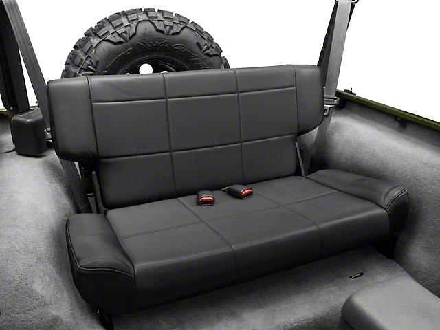 Smittybilt Vinyl Fold and Tumble Rear Seat; Black Denim (97-06 Jeep Wrangler TJ)
