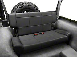 Smittybilt Vinyl Fold and Tumble Rear Seat; Black Denim (97-06 Jeep Wrangler TJ)