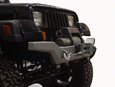 M.O.R.E. Rock Proof Hi-Clearance Front Bumper - Bare Steel (87-95 Jeep Wrangler YJ)