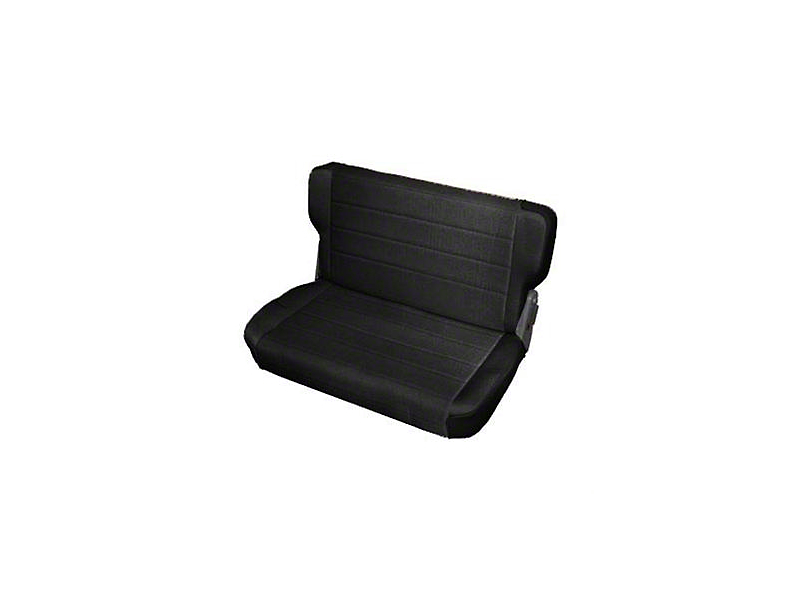 Smittybilt Rear Standard Seat - Black Denim (87-95 Jeep Wrangler YJ)