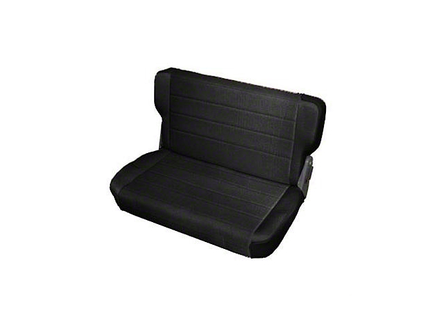 Smittybilt Rear Standard Seat; Black Denim (87-95 Jeep Wrangler YJ)