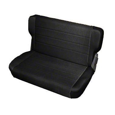 Smittybilt Standard Rear Seat Vinyl - Black Denim (87-95 Wrangler YJ)