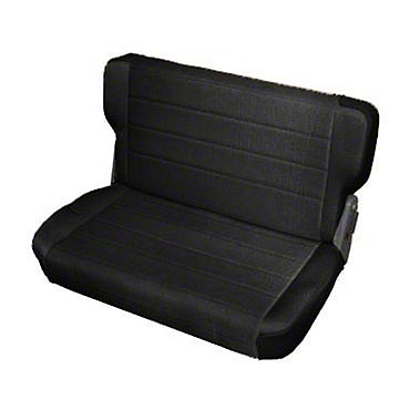 Smittybilt Standard Rear Seat Vinyl - Black Denim (87-95 Jeep Wrangler YJ)